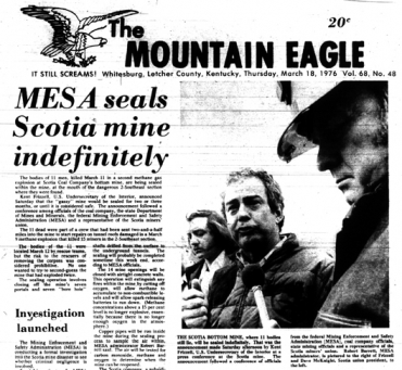 mountain eagle scotia disaster